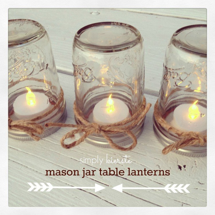 Mason Jar Table Lantern | simplykierste.com
