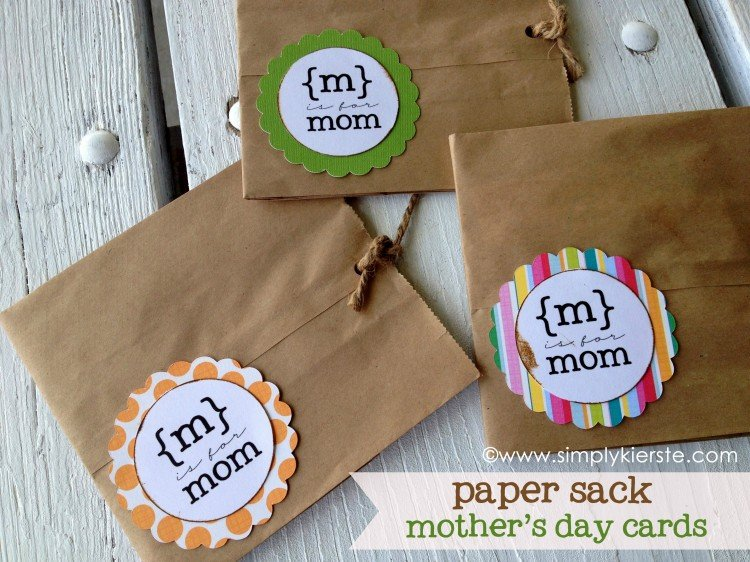 Paper Sack Mother's Day Card | simplykierste.com