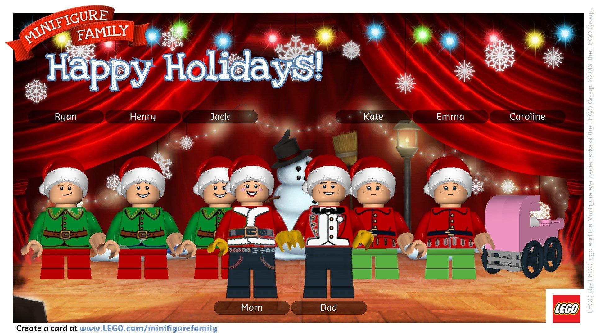 {a LEGO holiday card}