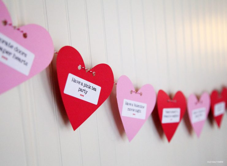 Heart Bunting | Valentine's Day Countdown