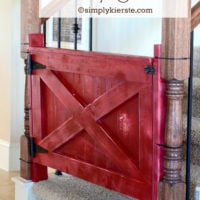Barn Door Baby Gate | oldsaltfarm.com