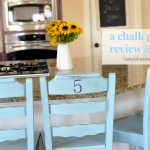 {a chalk paint review:  kitchen stools makeover