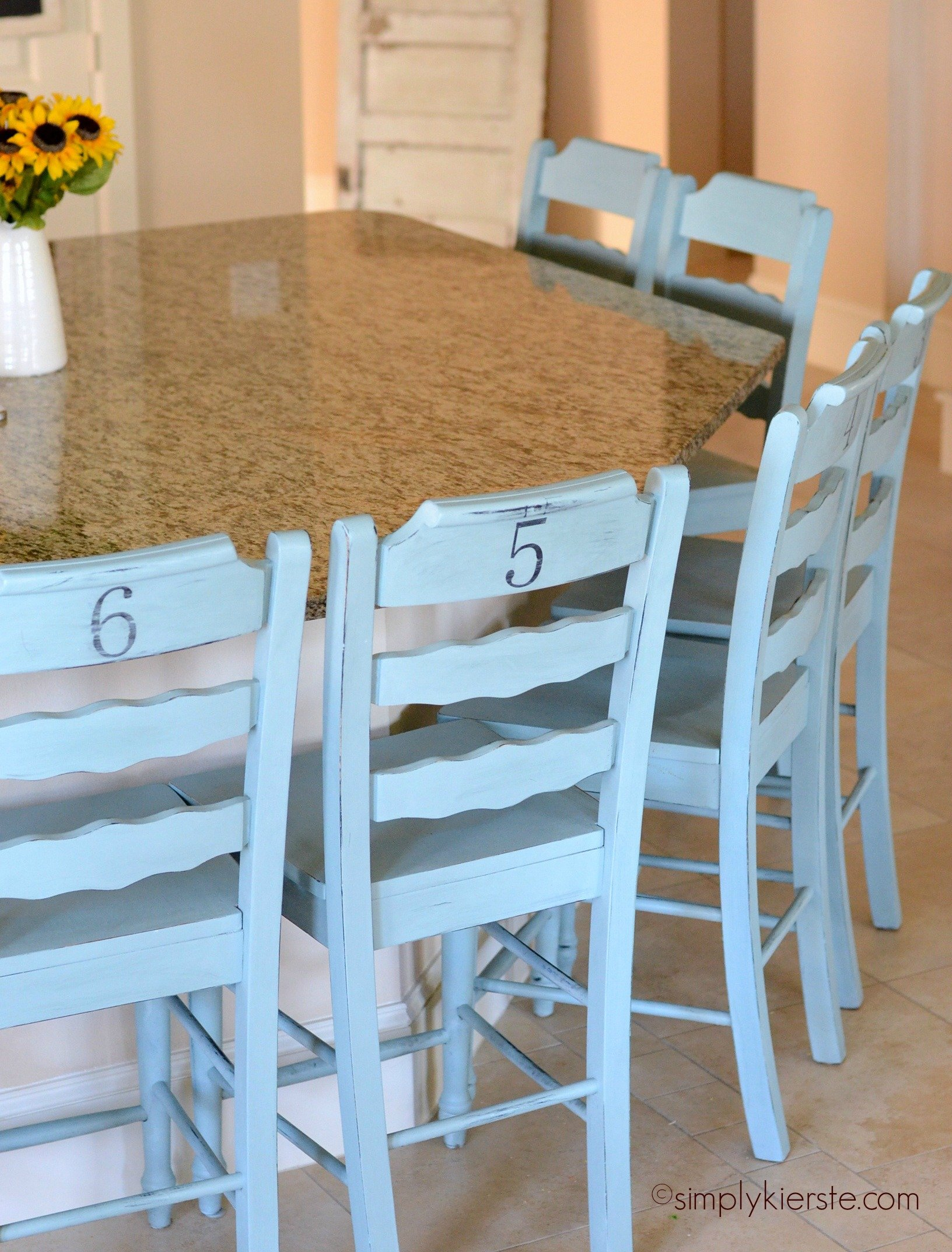 A chalk paint review faq for Painted kitchen chairs