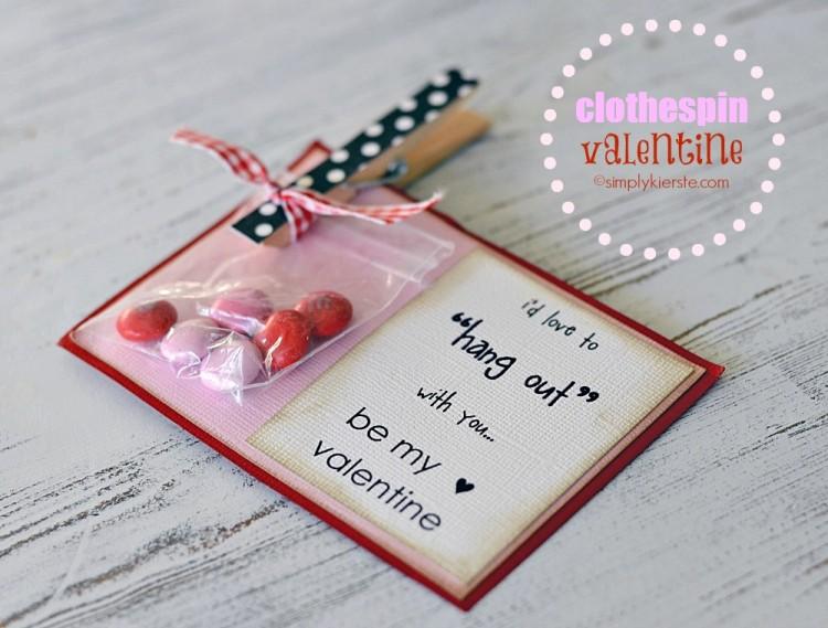 clothespin valentine | oldsaltfarm.com