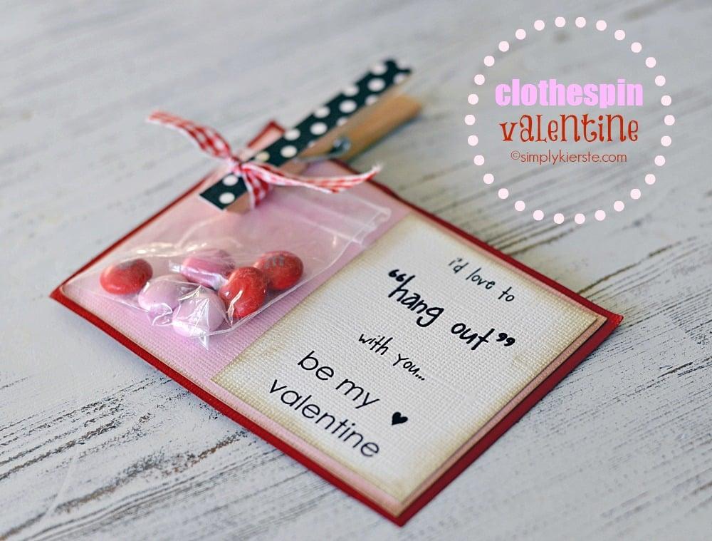 Clothespin Valentine
