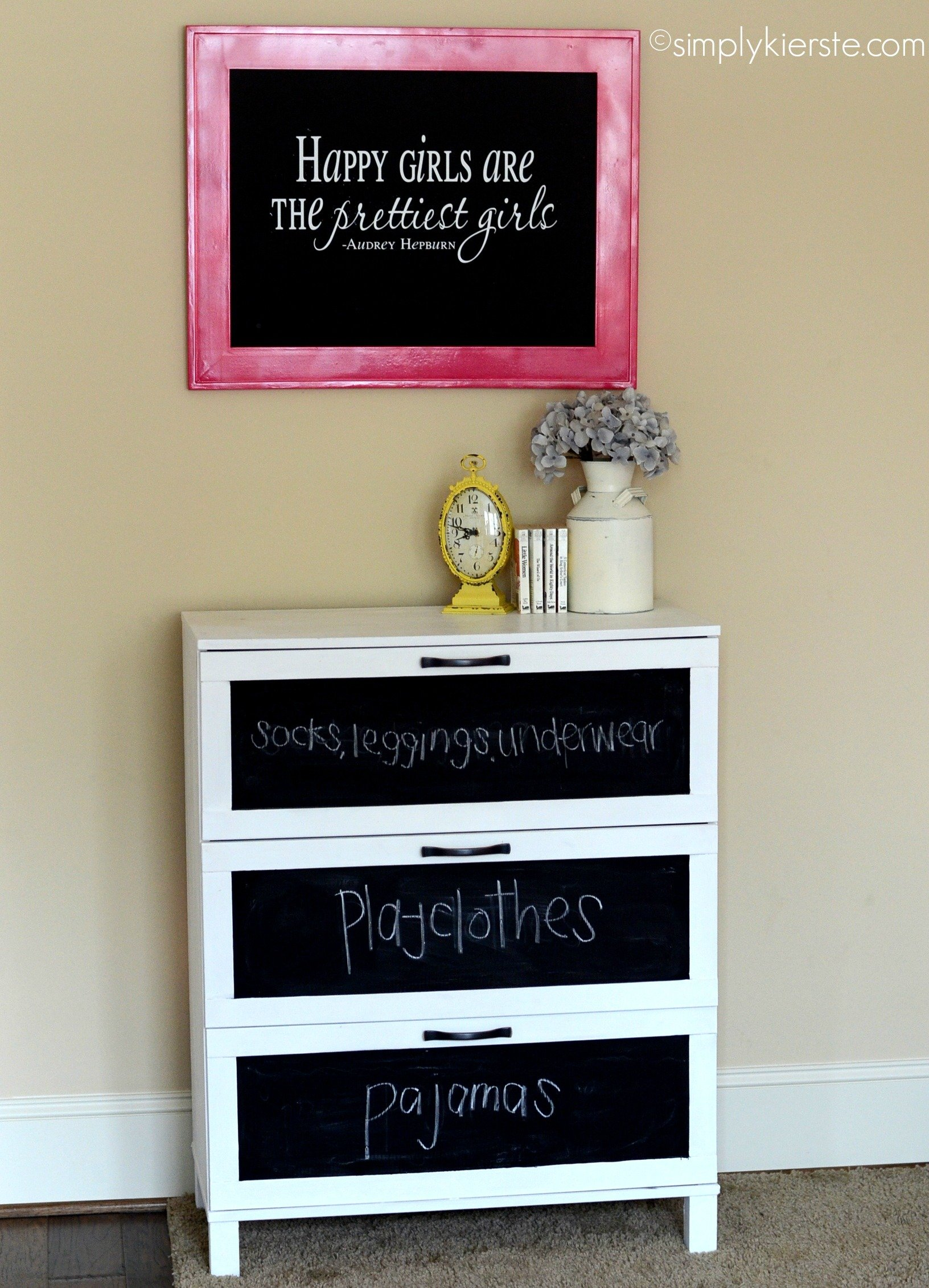 {before & after laminate dresser makeover…drab to fab!}