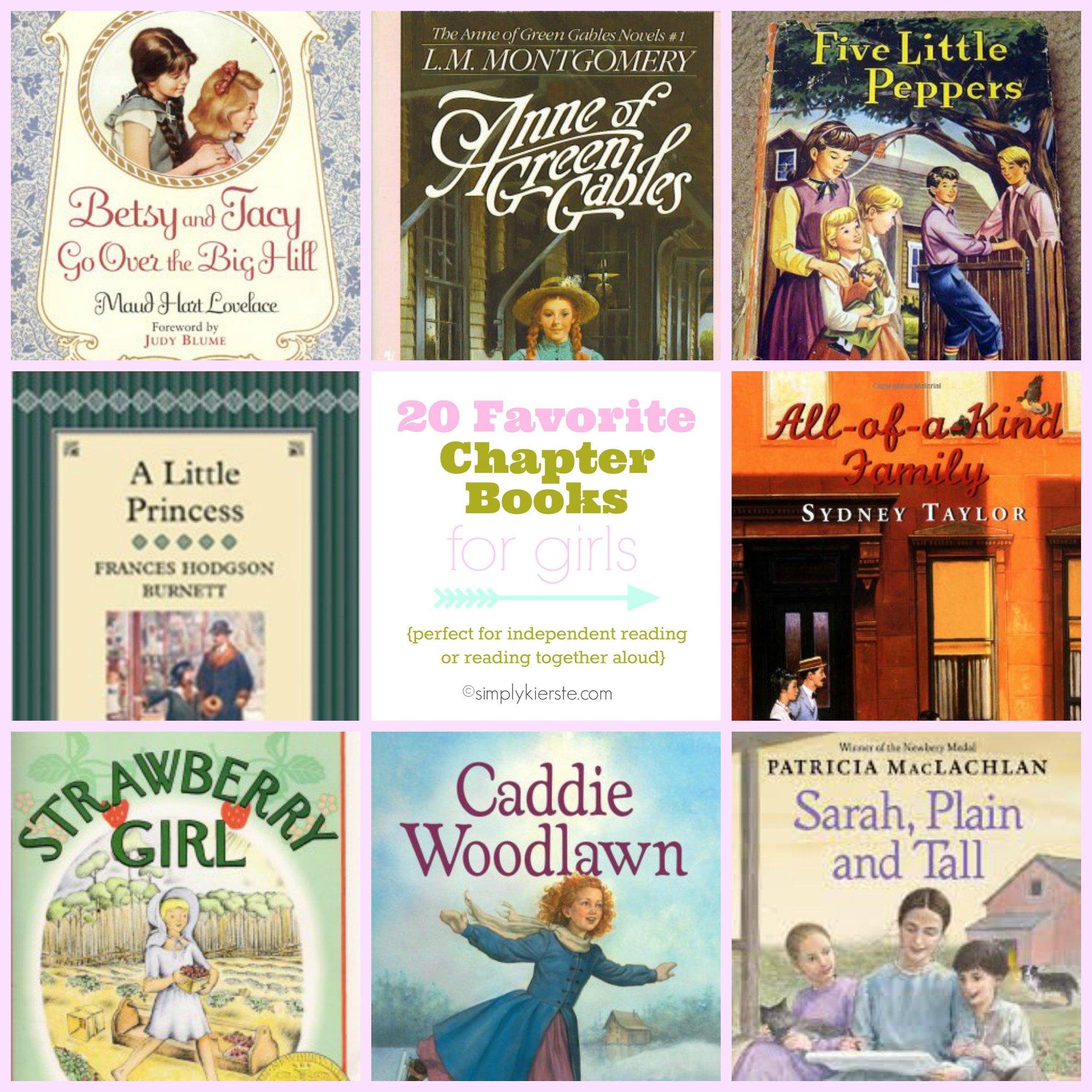 20 Favorite Chapter Books For Girls