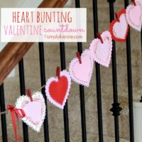Heart Bunting Valentine Countdown