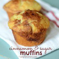 {cinnamon & sugar muffins}