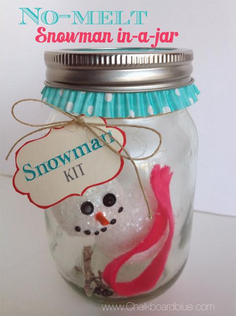 {craft for kids: no-melt snowman in-a-jar}