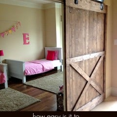 diy sliding barn door | simplykierste.com