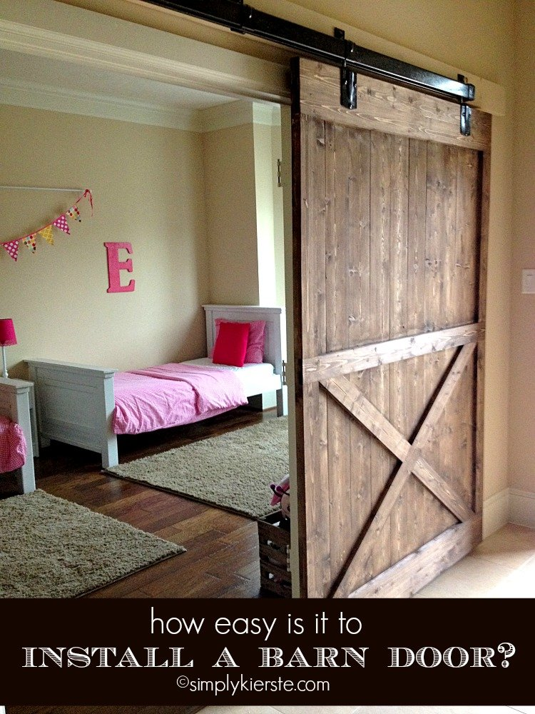 Installing a Sliding Barn Door...How Easy Is It? | simplykierste.com