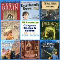 15 Favorite Chapter Books & Series For Boys {ages 8-12}