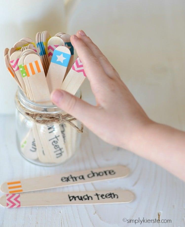 washi tape chore chart | simplykierste.com