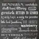 {favorite chalkboard fonts + making your own chalkboard printables}