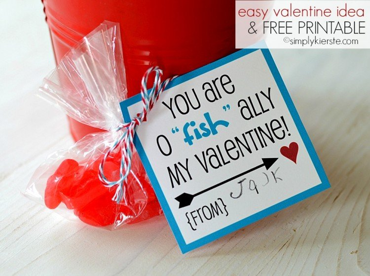 "easy valentine idea | o""fish""ally | DIY, crafts, printables & more | oldsaltfarm.com"