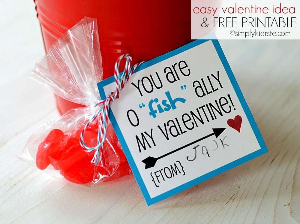 "{easy valentine idea…o ""fish""ally!!}  FREE printable included!"