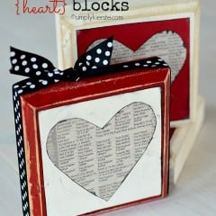 newspaper heart blocks | simplykierste.com