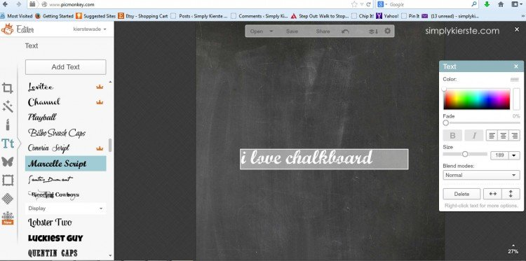 make your own chalkboard printables | simplykierste.com