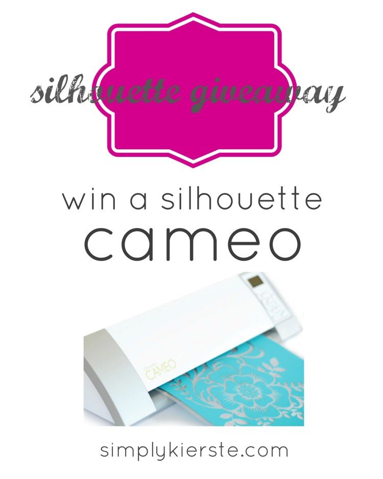 silhouette cameo giveaway | simplykierste.com