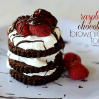 Raspberry Chocolate Brownie Torte