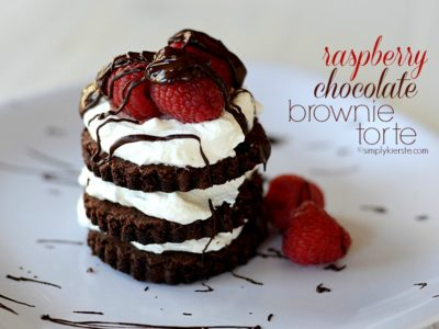 raspberry chocolate brownie torte | simplykierste.com