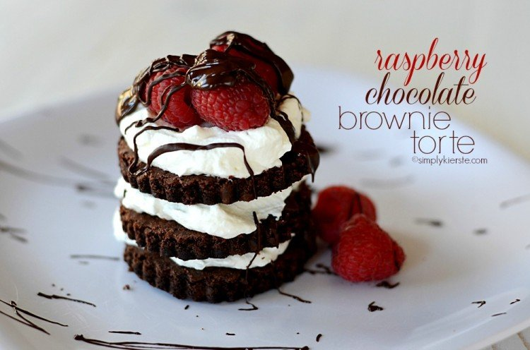 raspberry chocolate brownie torte | simplykierste.com