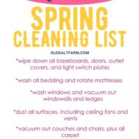 Quick Spring Cleaning Checklist