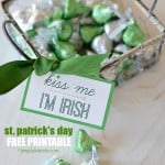 ST. PATRICK'S DAY FREE PRINTABLE GIFT TAG {KISS ME, I'M IRISH}