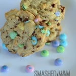 SMASHED M&M COOKIES