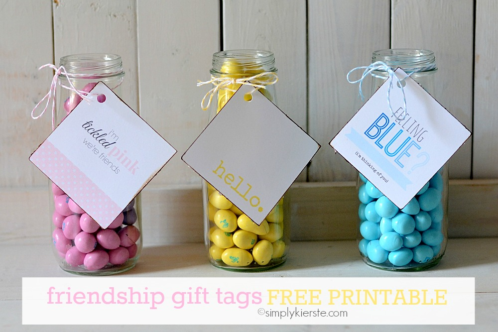 Friendship Gift Tags | Free Printable | simplykierste.com