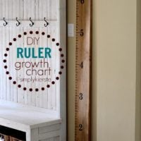 Easy DIY Ruler Growth Chart