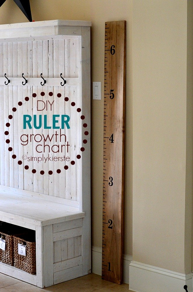 Easy DIY Ruler Growth Chart | simplykierste.com