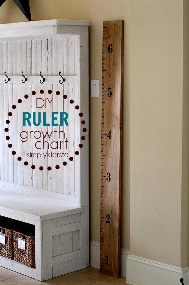 Easy DIY Ruler Growth Chart
