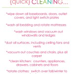 QUICK SPRING CLEANING LIST