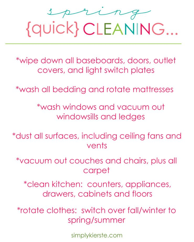 Quick Spring Cleaning | simplykierste.com