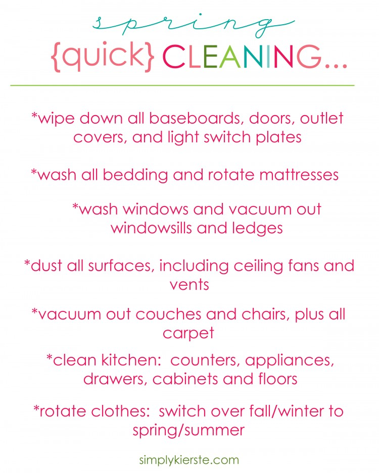 Quick Spring Cleaning | oldsaltfarm.com