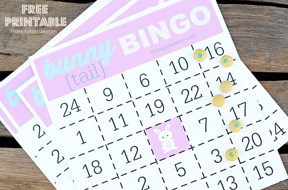 Bunny Tail Bingo | FREE PRINTABLE
