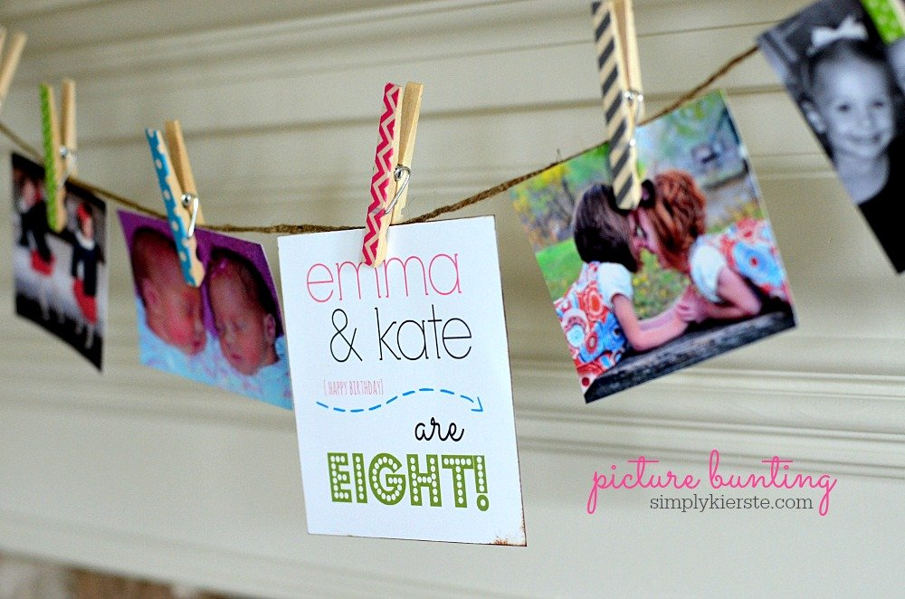 Picture Bunting for the Birthday Girls!