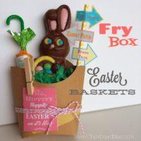 Fry Box Easter Baskets + Free Printable {Contributor:  Chalkboardblue}