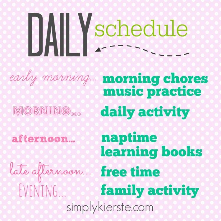 summer daily schedule | simplykierste.com