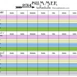 2014 Summer Schedule {FREE PRINTABLE}