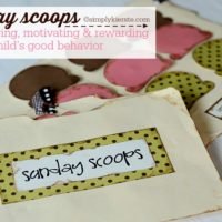 Sunday Scoops: Encouraging, Motivating & Rewarding a Child's Good Behavior