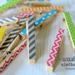 Easy Peasy Washi Tape Clothespins + 10 Ways to Use Clothespins