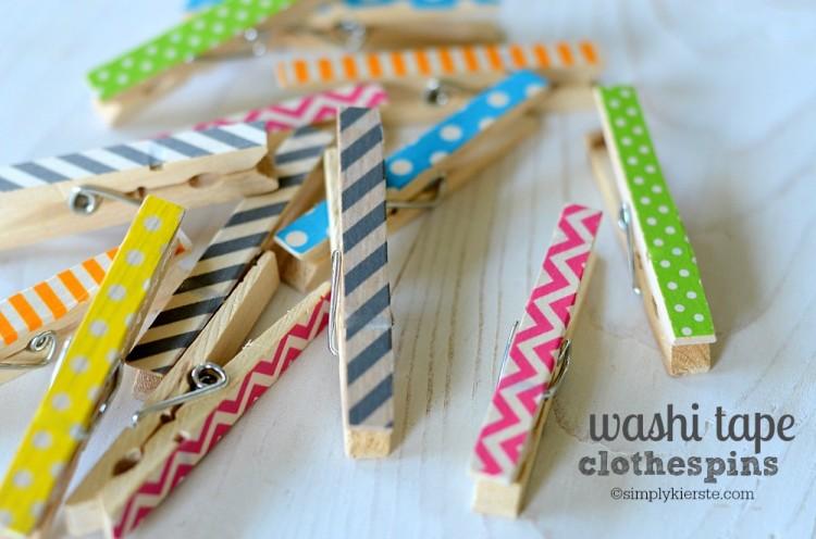 Washi Tape Clothespins | simplykierste.com