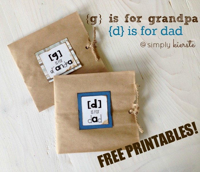 d is for dad father's day printable | simplykierste.com