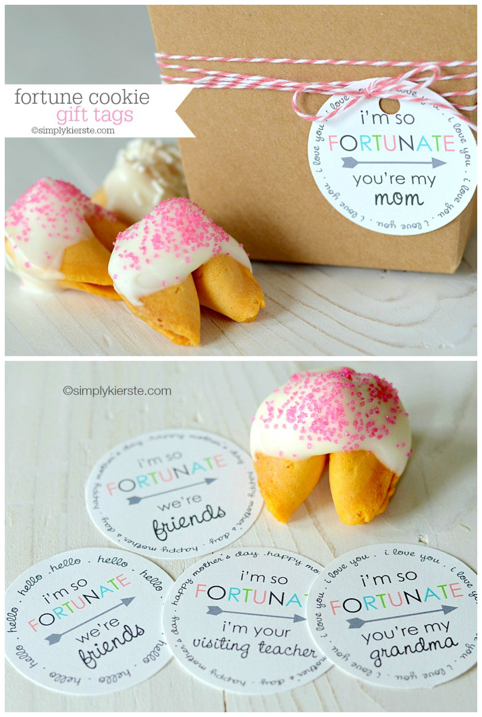 Fortune cookie gift tags simplykierste fortune cookie gift tags free printable mothers day and friendship negle Image collections