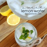 Sweet Lemon Water | simplykierste.com