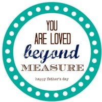 Father's Day Measuring Tape Gifts {FREE PRINTABLE}