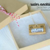 Ruler Necklace {Teacher Gift}